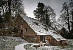 Nether Alderley Mill in the recent dusting of snow. © Andrew Haslam